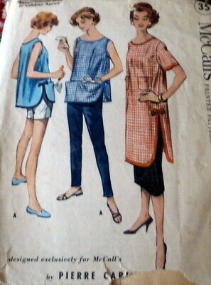 LOVELY VTG 1950s APRON PIERRE CARDIN Sewing Pattern SMALL