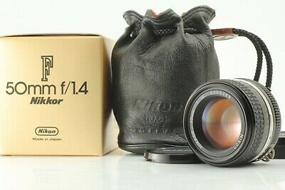 【Mint In Box /W Case】 Nikon Ai-S Nikkor 50Mm F/1.4 Ais Mf Lens From Japan #0078