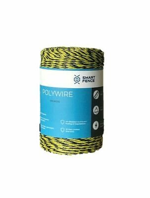 Electric Fence Polywire 200m 656' Garden Yard Pet Animal Pasture Enclosure