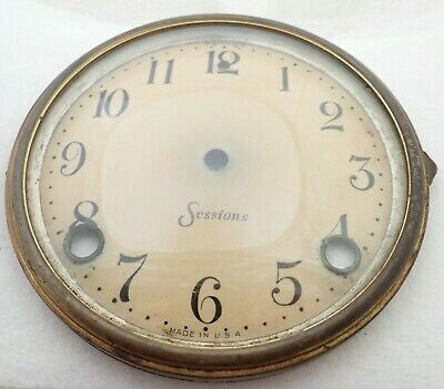 Antique Sessions Mantel Shelf Parlor Clock Celluloid Dial Bezel Parts Repair