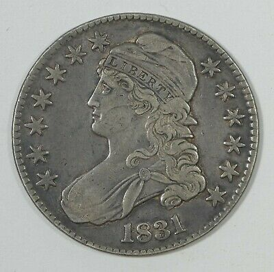 1831 Capped Bust Lettered Edge Half Dollar VERY FINE Silver 50-Cents