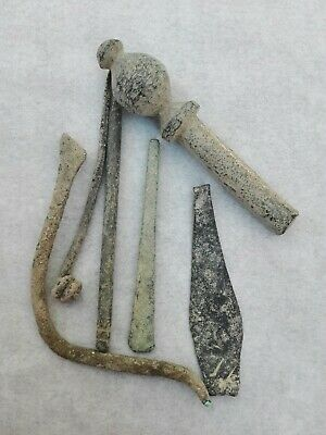 Ancient Roman Bronze Tools Iron Antique Tool  Rare Authentic Circa 100- 300 Ad