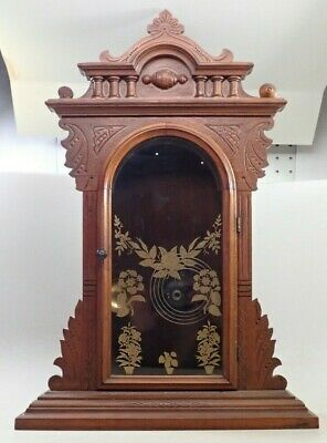 Antique Walnut En Welch Kitchen Clock Case Parts Repair