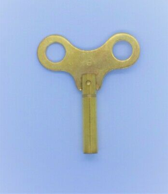 New Brass Winding / Clock Key For Mantle & Bracket Clock Size 6 / 3.75 mm