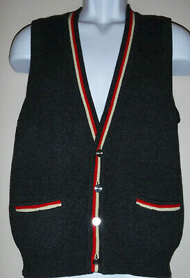 Vtg 50's Penney's Towncraft Made in Japan Wool Grunge Sweater Vest sz M