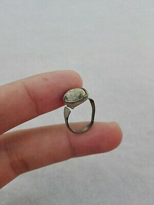 Ancient Roman Empire Ring Stone Antique Very Rare Bronze Artifact Old Authentic