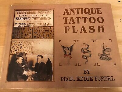 Antique Tattoo Flash Art Book Poferl Waters Machine Photos History Collectible
