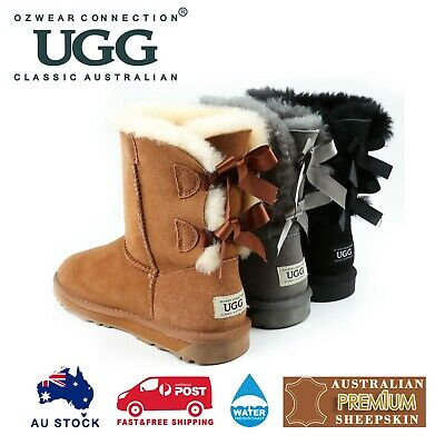 Ozwear Ugg Classic Bailey Bow Boots (Water Resistant) 3 Colours Ob364