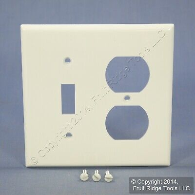 Leviton White 1Gang UNBREAKABLE Wallplate Switch Duplex Receptacle Cover 80705-W