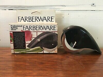 Farberware Professional Rolling Hand Held Slicer 5 Stainless Steel Slice Blades