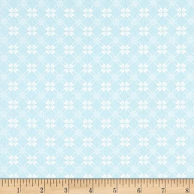 Sweet Baby Flannel Quilt Fabric Diaper Pin Plaid Baby Sky Blue Children