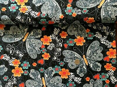Love Hope Pray Fabric Butterflies Flowers Out Of Print Quilt Shop Quality QT