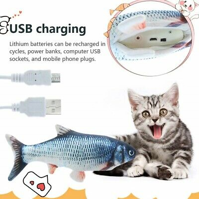 Electronic Pet Cat Toy Electric USB Charging Simulation Fish Toys New
