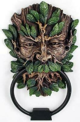 Ornamental Door Knocker Man Face Unique Antique Look Sculpted Decor Home Hang
