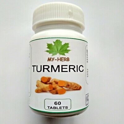 60 Turmeric Pills with Black Pepper 10:1 Strong Extract, Slow release Tablet