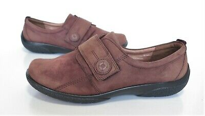 Ladies HOTTER SUGAR Comfort Concept Brown leather Shoes Size 6  EEE Wide