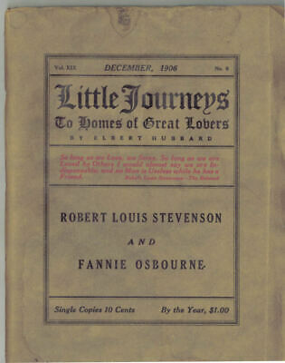1906 Orig Furniture Ad Little Journeys Roycroft Magazine RL Stevenson F Osbourne