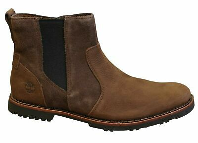 TIMBERLAND BROOK PARK Mens Leather Chelsea Boots Brown B
