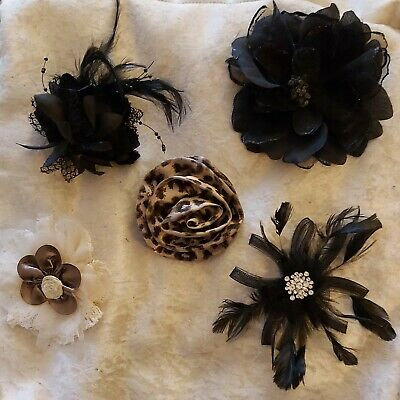 Bundle Of 5 Ladies Accessories - Hair Clips, Brooches, Fasinators