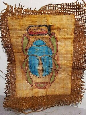Rare Antique Ancient Egyptian Papyrus Scarab Good Luck Happy life 1780-1690BC