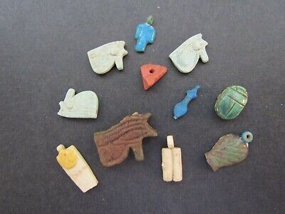 NILE  Ancient Egyptian Lot of Amulets ca 1000 BC