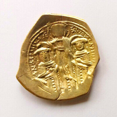 Andronicus II and Michael IX GOLD Hyperpyron B-B  1295-1320 AD   3.15g/25m   C13