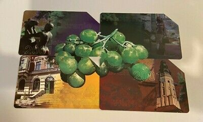 POLAND Phonecards - 4 x 25 units - Grapes Scene USED