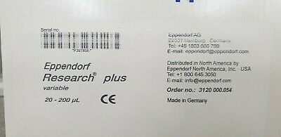 NEW IN BOX Eppendorf 20 - 200 uL Research Plus variable Pipette Pipettor