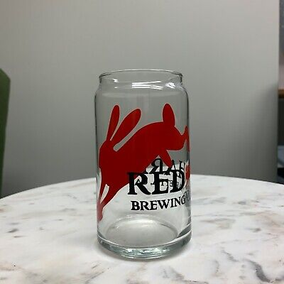 RED HARE BREWING Co Beer Pint Glass Marietta Georgia Brewery American Flag
