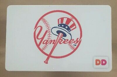 Dunkin Donuts Gift Card. NEW YORK YANKEES SGA Card 2018. Mint Worldwide shipping