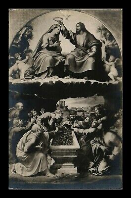 Dr Jim Stamps Crowning Of Mary Artwork Topical Real Photo Rppc Postcard