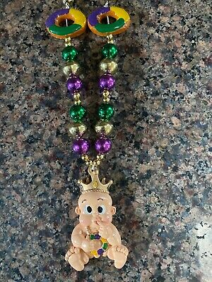 """""""King Cake Baby"""" Specialty Mardi Gras Beads Necklace New Orleans!"""
