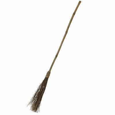 Broom Straw Witch Novelty Accessory Halloween Fancy Dress Outfit Prop
