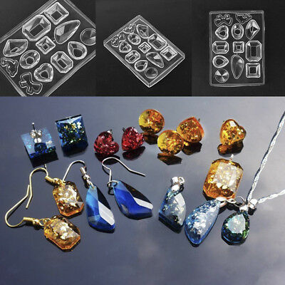 DIY Silicone Mold Mould Resin Craft Tool For Earrings Pendant Necklace Making