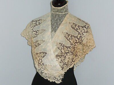 Large Antique Victorian Blouse-Collar-Jacobean Floral Edwardian Dress Front