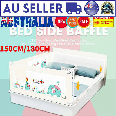 Children's Bed Guardrail Baby Safety Bed Fence Anti-fall Big Bed Side Baffle AU