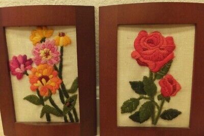 """set of two embroidery art 7"""""""