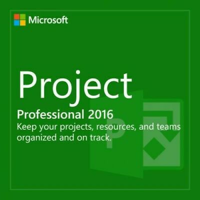 MS Project 2016 Professional. 32/64 bit. Product Key+Download LINK