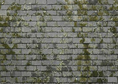 16 SHEETS EMBOSSED  stone paper wall 21x29cm SCALE G 1//24    n69ox