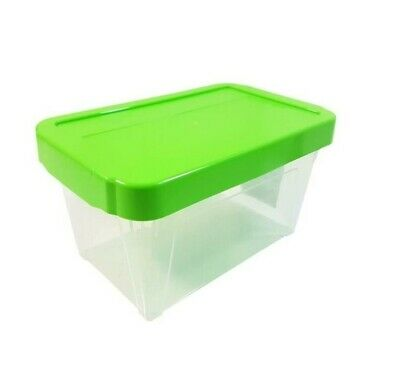 "10 X Stackable Green Cd Dvd Office Garage General Storage Box 10"" @Last Stocks@"
