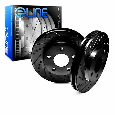 POWER PERFORMANCE DRILLED SLOTTED PLATED BRAKE DISC ROTORS P31165 FRONT