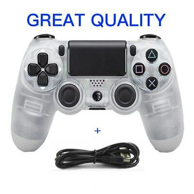 Wireless Bluetooth Gamepad Controller for Sony PlayStation 4 PS4 Console Clear W