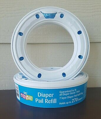 Diaper Pail 7-layer Refill Bags - Compatible with All Diaper Genie Pails ~ NEW ~