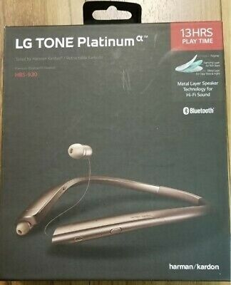 Authentic New Lg Tone Platinum Hbs 930 Bluetooth Stereo Headset Rose Gold 39 97 Picclick