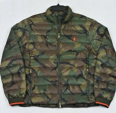 Polo Ralph Lauren Camouflage Puffer Down Coat Packable Camo Jacket XL NWT $248