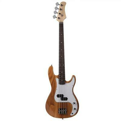 Exquisite Burning Fire Style Electric Bass Guitar Burly Wood