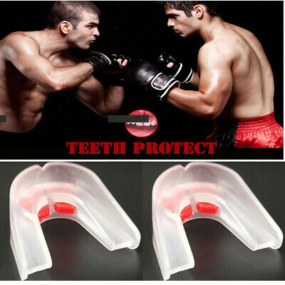Manto Victory Single Mouth Guard Yellow Mouthguard Gum Shield with Case