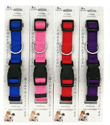 Classic Dog Collar Nylon Puppy Collars solid for puppy small dogs and Cats XS