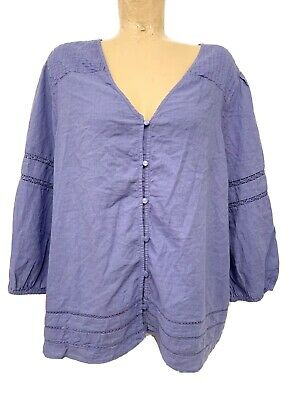 "NWT $35 Old Navy Purple 3/4 Sleeve Shirt Size XL X Large 25"" Chest Button Down"
