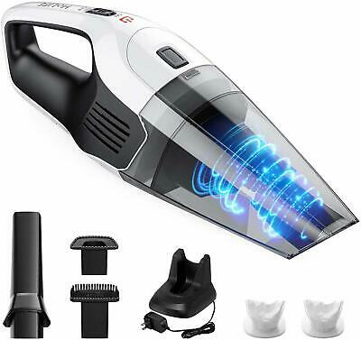 Super Suction Low Noise Portable Cleaner Up to 24 Mins Wet Dry with LED Indicator Rechargeable Car Pet Home Kitchen Vac Cleaner Handheld Vacuums HM319 LED Hoover Portable Cordless